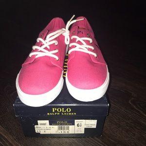 MENS NIB Pink Polo Ralph Lauren Sneakers